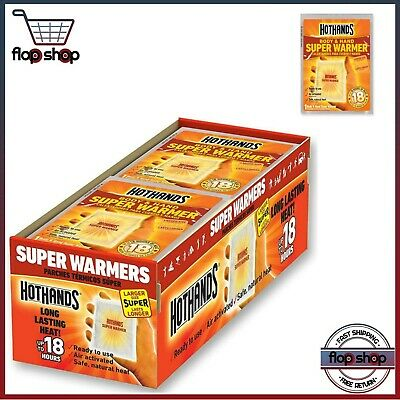 Hand and Body Warmer Super HotHands Warmers 40 Count Pack Hot 18 Hours Heat