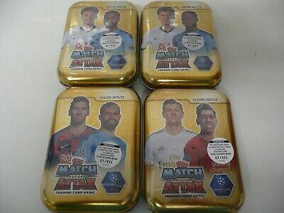 NEW 4 X Topps Match Attax Champions League 2019/20 Tins Trading Card 180 cards