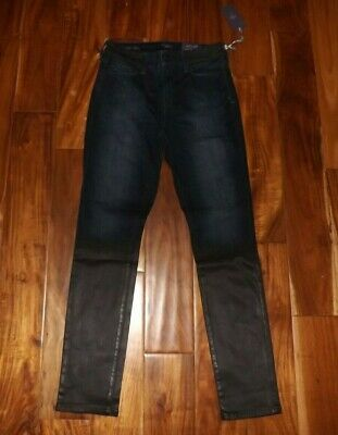 NYDJ Womens Black Coal Alina Denim Skinny Leggings Jeans Size 8