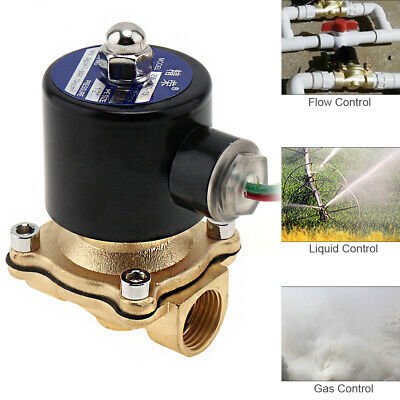 """1/2"""" AC 220V Brass Electric Solenoid Valve for Gas Water Air Oil"""