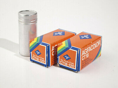 2 x Agfa CT 18 - Color Slide Film  - 120 Roll Film -  Expired