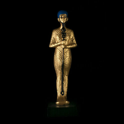 Ancient Egyptian pharaohs statue God Ptah Collection king Tut varnish gold 24 k