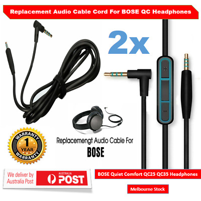 Replacement Audio Cable Cord Mic For Bose Quiet Comfort QC35II QC25 Headphone