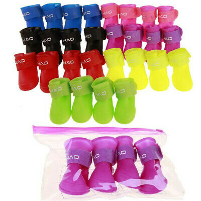 Pet Shoes Booties Rubber Dog Waterproof Anti-slip Rain Boots for Small Big Dogs
