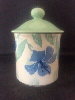 Large Hornsea Pottery Lily Pattern Lidded Storage Jar Air Tight + Rubber Seal
