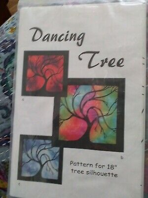 """Dancing Tree Carol Better Galley 18"""" Wall Quilt Pattern only"""