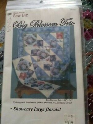 Big Blossom Trio Quilt Pattern only