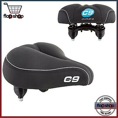 Comfort Bike Seat Sunlite Cloud 9 Bicycle Cruiser Gel Saddle Trekking Cycling C9