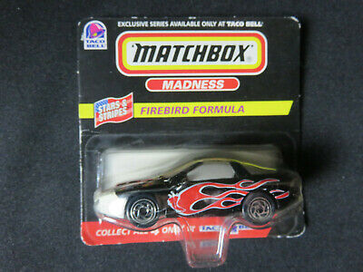 MATCHBOX MADNESS - Taco Bell Exclusive - Firebird Formula NEW IN PACKAGE 1998