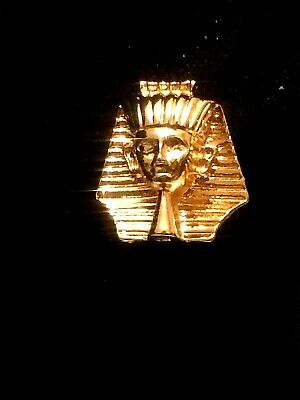 1pr Raw Brass Ancient Egyptian Lady Face Earrings 5026