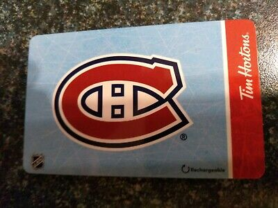 Collectable Tim Hortons Montreal Canadians Gif Card #Fd67563 ..No Monatary Value
