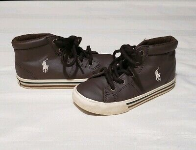 msrp: $45 VINTAGE 2012 POLO RALPH LAUREN INFANTS ENSSON MID BOOTIE 26693 BLACK
