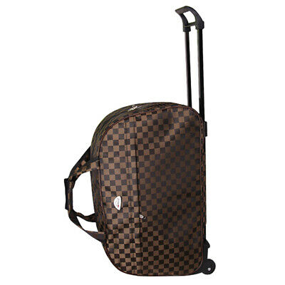 """24"""" Rolling Wheeled Duffle Bag Tote Carry On Travel Suitcase Luggage Lighweight"""