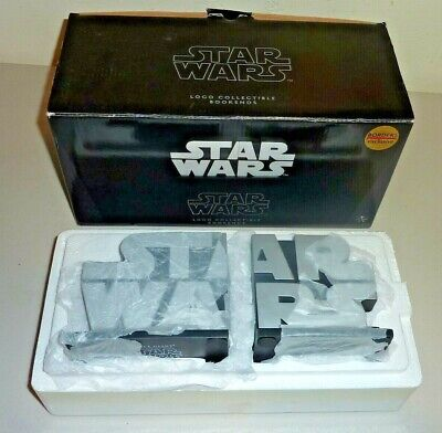GENTLE GIANT BORDERS EXCLUSIVE STAR WARS LOGO COLLECTABLE BOOKENDS complete