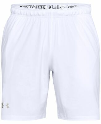 Under Armour Shorts Loose Fit Athletic Running Unlined Heat Gear L 2XL White NWT