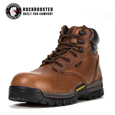 ROCKROOSTER Men Work Boots Lace-Up Anti-puncture Composite Toe Cap Safety Shoes