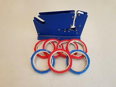 Metal Plastic Bag Neck Sealer + 7 Rolls of Tape Butchers Bakers Pick & Mix Sweet