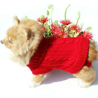Small Dog Knit Jacket Pet Cat Puppy Sweater Coat Clothes Warm Costume Apparel