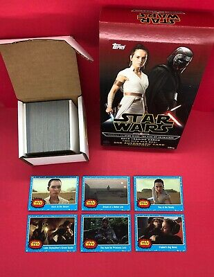 2019 Star Wars Journey To The Rise of Skywalker 110 Card Blue Set