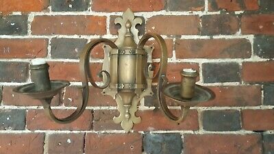 Vintage Brass Wall Sconce Period Candle Holder Wall Light old