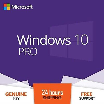 Windows 10 Pro Professional Activation License Product Key Code 32&64 Bit ESD
