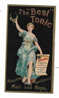 Old Quack Medicine Trade Card BEST TONIC Malt & Hops Extract Aldrich Concord NH