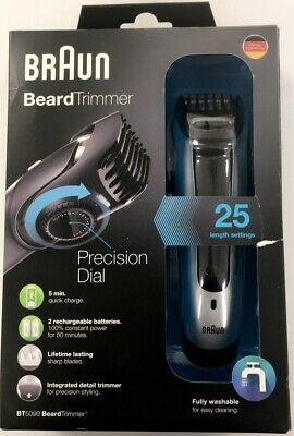 BRAUN Beartrimmer BT5090 Tondeuse Barbe Silver Rechargeable & Lavable / EBHF