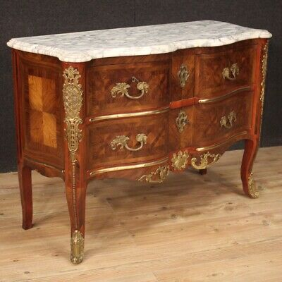 Commode dresser in wood furniture chest of drawers sideboard antique style 900