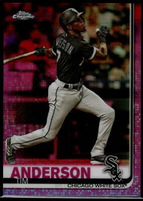 Tim Anderson 2019 Topps Chrome Refractors Pink #186 White Sox
