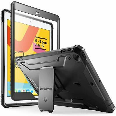 iPad 10.2 2019 Case, Poetic Built-in Screen Protector with Kickstand Shockproof