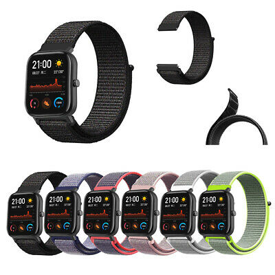 For 20mm Amazfit GTS Watchband Loop Back Nylon Canvas Replacement Watch Strap