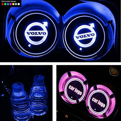 VOLVO for all models cup holders set 7 colour light up XMAS GIFTXC60 V50 V70 S60