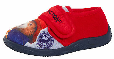 Kids Paddington Bear Slippers Boys Girls Character Mules House Shoes Booties