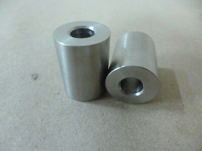 """5/16"""" ID X 3/4"""" OD X 1"""" TALL STAINLESS STEEL STANDOFF / SPACER / BUSHING 2Pcs"""