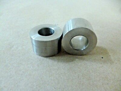 """1/2"""" ID X 1"""" OD X 1/2"""" TALL STAINLESS STEEL STANDOFF / SPACER / BUSHING 2Pcs"""