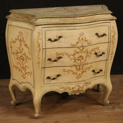 Dresser Italian Furniture Cupboard Drawers Lacquered Painting Antique Style