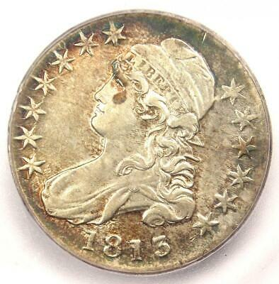 1813 Capped Bust Half Dollar 50C - Certified ICG AU55 - Rare Coin - $1,230 Value