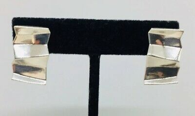 Tiffany & Co. Frank Gehry Authentic Sterling Silver Crimped Fold Earrings