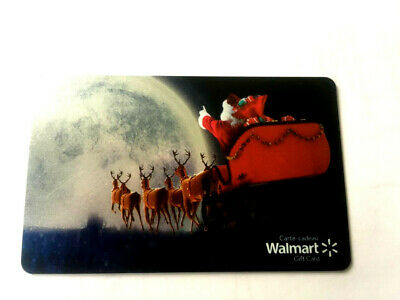 WALMART Limited Edition holiday santa 2019 Gift Card New No Value BILINGUAL