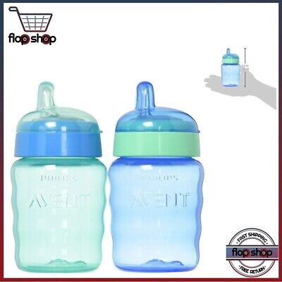 Philips Avent My Easy Sippy Cup 9 Ounce Pink//Purple Stage 2 Colors May Vary