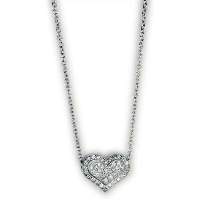 Diamond Heart Pendant with Chain in 18K