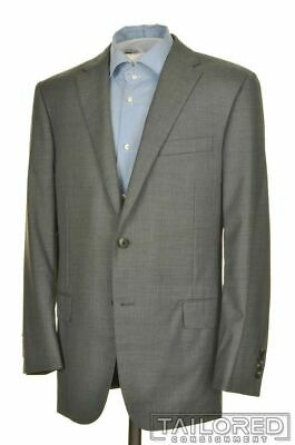 HICKEY FREEMAN Current Solid Gray SUPER 170 WOOL Jacket Pants SUIT Mens - 42 R