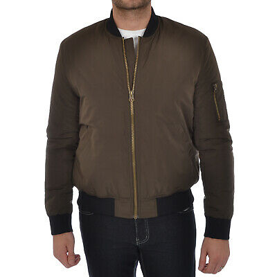 Puffa Mens Padded Bomber Jacket Quilted MA1 Casual Coat Olive S