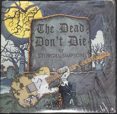 """Sturgill Simpson THE DEAD DON'T DIE New Limited Yellow Colored Vinyl 7"""" Single"""