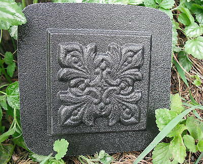 "Fancy plastic travertine tile mold 4"" x 4"" x 1/4"" reusable casting mould"