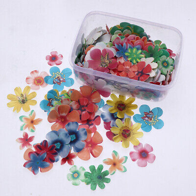 360pcs Delicate Edible Flowers Cake Decoration for Wedding Birthday Party
