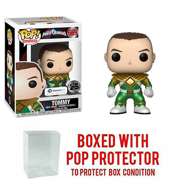 Galactic Toys Funko Pop TV: Metallic Unmasked Green Ranger Exclusive w Pop Prote