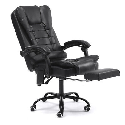 Massage Office Chair Gaming Racing Recliner Computer Gaming Seat w/ Footrest