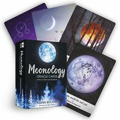 Moonology Oracle Cards: A 44-Card Deck and Guidebook by Yasmin Boland Cards NEW