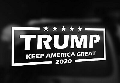 """TRUMP 2020 KEEP AMERICA GREAT Vinyl Decal Sticker 8.25"""" x 3""""  Choose Your Color"""